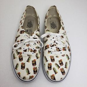 Vans Off The Wall Lace Up Pineapple Shoes Sz 12